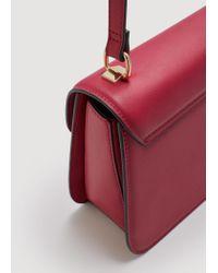 Mango - Red Pebbled Cross-body Bag - Lyst