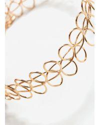 Mango | Metallic Metal Necklace Set | Lyst
