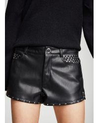 Mango - Black Shorts - Lyst