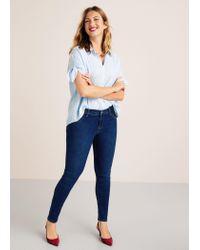 Violeta by Mango - Blue Super Slim-fit Felicity Jeans - Lyst