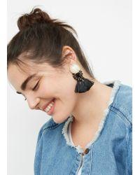 Violeta by Mango - Black Tassels Pendant Earrings - Lyst