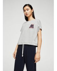 Mango - Gray Sweatshirt - Lyst