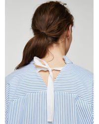 Mango - Blue Shirt - Lyst