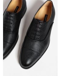 Mango - Black Leather Blucher Shoes for Men - Lyst
