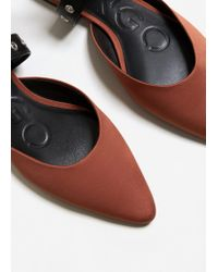 Mango - Multicolor Ankle-cuff Pointed Toe Shoes - Lyst