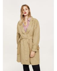 Violeta by Mango - Natural Classic Belted Trench - Lyst