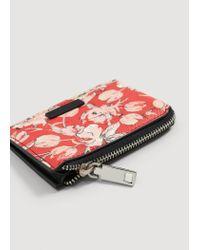 Mango - Red Print Wallet - Lyst