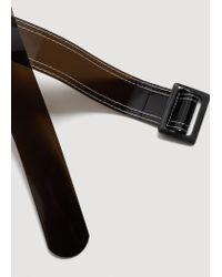 Mango - Black Contrast Vinyl Belt for Men - Lyst