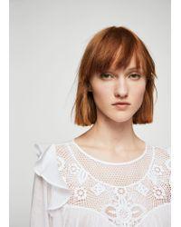 Mango | White Blonda Panel Blouse | Lyst