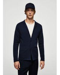 Mango   Blue Cardigan for Men   Lyst