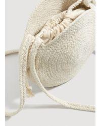 Mango - Natural Jute Cross-body Bag - Lyst