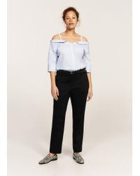 Violeta by Mango - Black Detachable Belt Trousers - Lyst