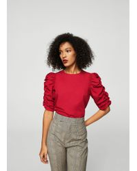 Mango - Red Blouse - Lyst