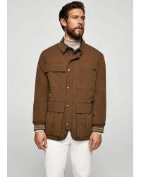 Mango - Brown Cotton Nylon-blend Field Jacket for Men - Lyst