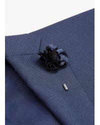 Mango - Blue Flower Lapel Pin - Lyst