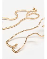 Mango - Metallic Silhouette Earrings - Lyst