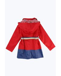 Marc Jacobs - Red Cotton Twill Hooded Raincoat - Lyst