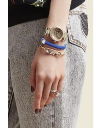 Marc Jacobs - Metallic Dotty Bracelet 34mm - Lyst