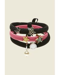 Marc Jacobs - Pink Stripe And Checkerboard Cluster Ponys - Lyst