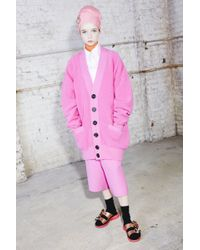 Marc Jacobs - Orange Oversize Long Sleeve Cardigan - Lyst