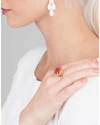 Irene Neuwirth - Red Fire Opal And Pink Tourmaline Ring - Lyst