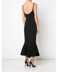 Givenchy - Black Ruffle Hem Midi Dress - Lyst