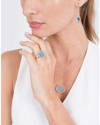 Monique Péan - Blue Gilalite And White Diamond Ring - Lyst