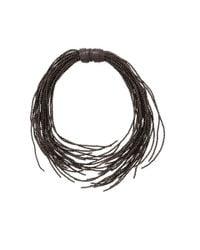Brunello Cucinelli - Gray Ematite Wired Wrap Necklace - Lyst