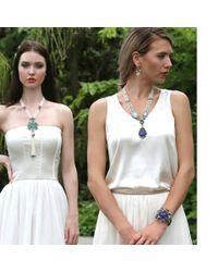 Arunashi - Blue Carved Tanzanite Necklace - Lyst