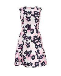 Oscar de la Renta - Multicolor Floral Dress - Lyst