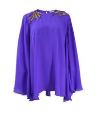 Emilio Pucci - Purple Embellished Shoulder Kaftan Blouse - Lyst