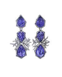 Arunashi | Multicolor Tanzanite And Diamond Earrings | Lyst