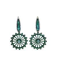 Silvia Furmanovich   Carved Green Jade Earrings   Lyst