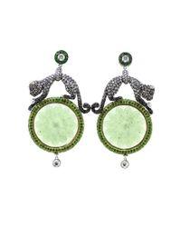 Wendy Yue | Green Carved Serpentine Earrings | Lyst