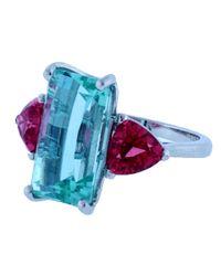 Katherine Jetter | Neon Blue Green Tourmaline Ring | Lyst