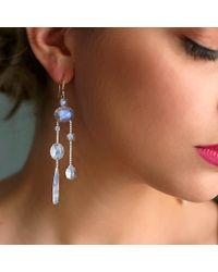 Irene Neuwirth - Multicolor Rainbow Moonstone Drop Earrings - Lyst