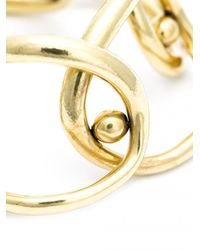 Vaubel - Metallic Overlap Oval Ring Bracelet - Lyst