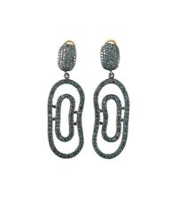 Yossi Harari | Blue-diamond Open Lilah Earrings | Lyst