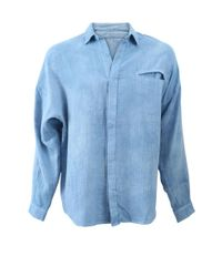 The Elder Statesman - Blue Guaze Pocket Shirt - Lyst