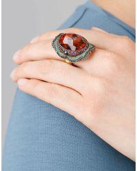 Sevan Biçakci - Multicolor Carved Pomegranate Ring In Citrine - Lyst
