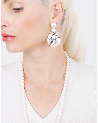 Silvia Furmanovich - Multicolor Marquetry Blue Bird Earrings - Lyst