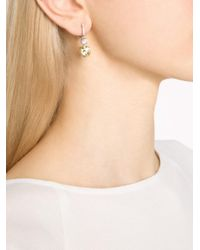 Fantasia Jewelry - Metallic Pave Top Earrings - Lyst
