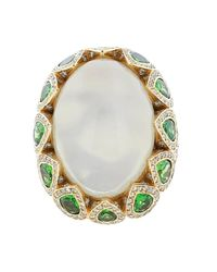 Inbar - Metallic Cabochon Ring - Lyst