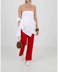 Rosie Assoulin - White Strapless Bustier Top - Lyst