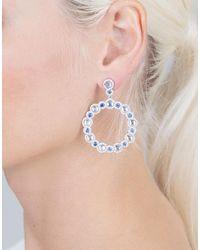 Inbar - Metallic Moonstone And Blue Sapphire Earrings - Lyst