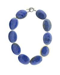 Yossi Harari - Blue Demortorite Bead Necklace - Lyst