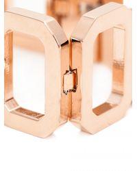 Rebecca | Metallic Elizabeth Square Chunky Bracelet | Lyst