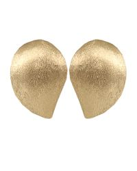Yvel - Metallic Large Handmade 18k Yellow Gold Earrings - Lyst