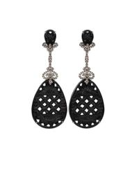 Bochic | Carved Black Onyx Drop Earrings | Lyst