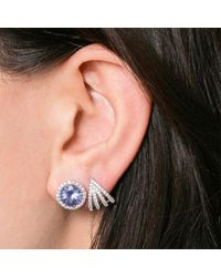 Dana Rebecca - White Anna Beth Iolite Stud Earrings With Diamond Pave - Lyst